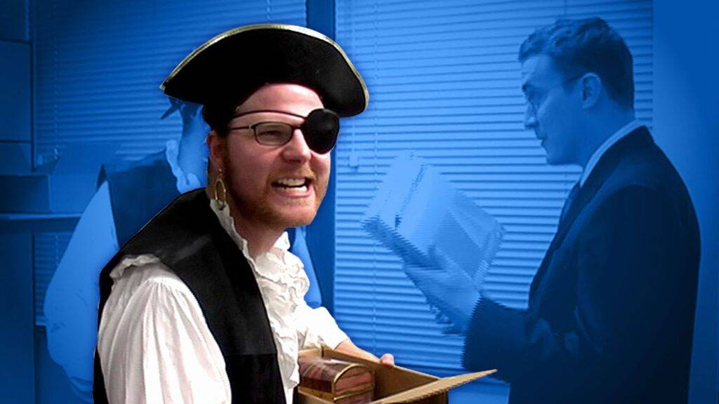 Lead Like a Pirate: Be Democratic - image Office-Pirate-1024x576 on http://cavemaninasuit.com