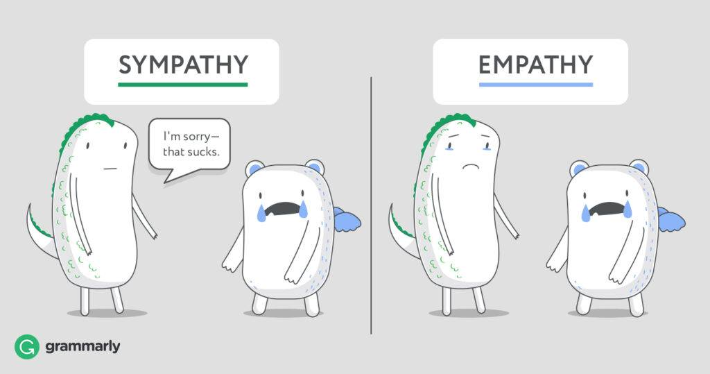 The difference between empathy and sympathy when building realtionships