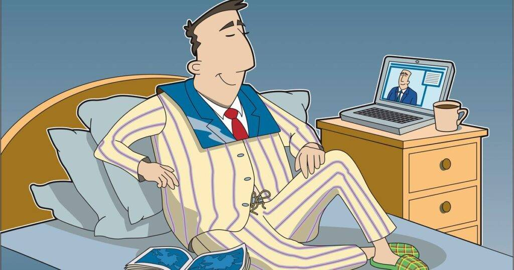 5 Tips on How to Work From Home - image in-love-with-your-pajamas-learn-how-to-work-from-home-effectively-1024x538 on http://cavemaninasuit.com