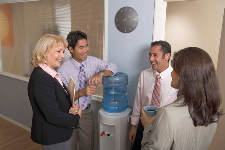 Building Relationships while Social Distancing - image watercooler-2 on http://cavemaninasuit.com
